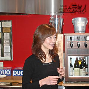 日本ソムリエ協会認定ワインアドバイザーの足立さん