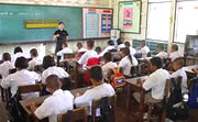 タイ国内で研修を受けた学校教師を中心に授業