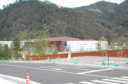 開館に向け急ピッチで工事が行われている島根県立古代出雲歴史博物館