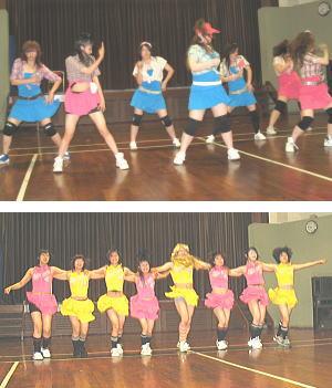 イベント会場での教室生による踊り