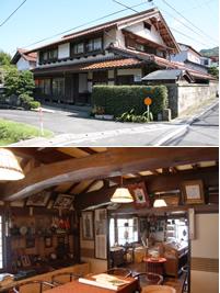 (上)安部氏の自宅は歴史を感じさせる古民家(下)自宅二階は貴重な資料展示場
